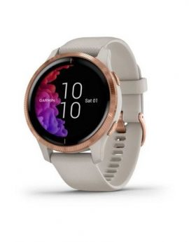 Reloj deportivo con gps Garmin Venu beige/gold rose - bt - garmin pay - notificaciones - salud - multisport - android/ios