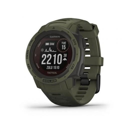 Smartwatch Garmin Instinct Solar Tactical Verde Militar - 23*23mm - gps - carga solar - frec cardiaca - pulsioximetro - notificaciones - caja reforzada