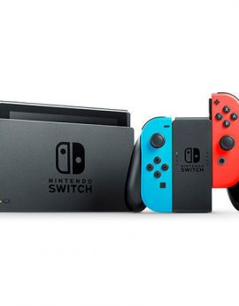 Consola nintendo switch red&blue v1.1 - consola + base + 2 mandos joy-con + 2 correas para mandos + soporte + cable hdmi +