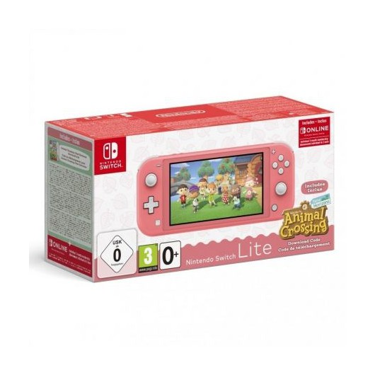 Nintendo Switch Lite Coral + Animal Crossing New Horizons + 3 meses suscripción eshop