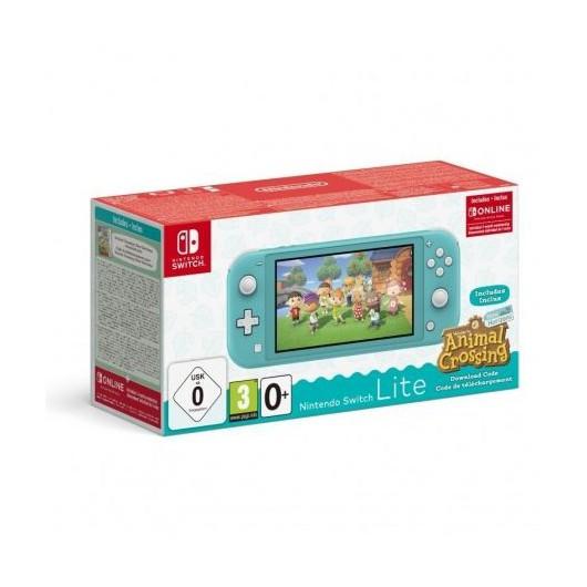 Nintendo Switch Lite Turquesa + Animal Crossing New Horizons + 3 meses suscripción eshop