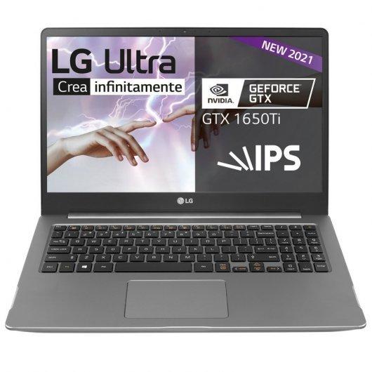 Portatil LG 15U70P-J.AA78B i7-1165g7 16GB 512GB SSD GTX1650Ti 15' w10 Plata