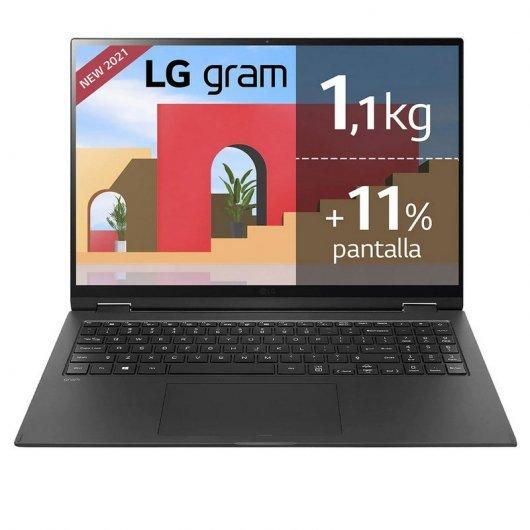 Portatil LG Gram 16Z90P-G.AP77B i7-1165G7 16GB 512GB SSD 16' w10pro Negro
