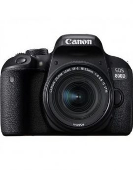 Camara digital reflex Canon 800D 24.2MP WiFi/Bluetooth + Objetivo EF-S 18-55mm F4-5,6 IS STM