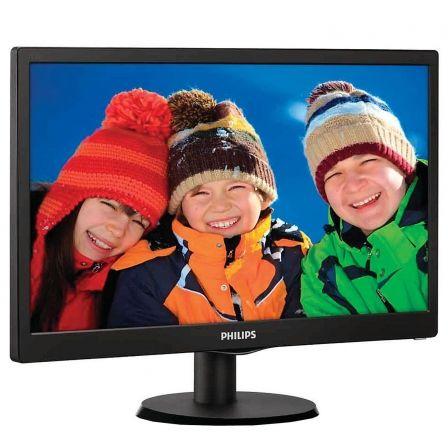 Monitor led philips 193v5lsb2 18.5' / 46.99cm 5ms 200cd/m2 16:9 60hz 10m:1 vga smart control lite negro