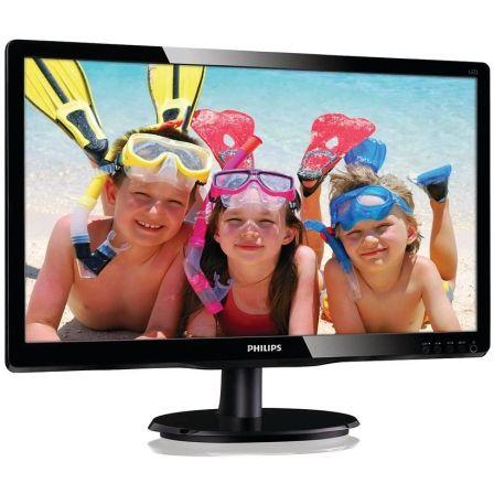 Monitor led multimedia philips 200v4lab2 - 19.5'/49.5cm 1600x900 - 60hz - 5ms - 10m:1 - 200cd/m2 - vga - dvi-d - 2x2w - negro