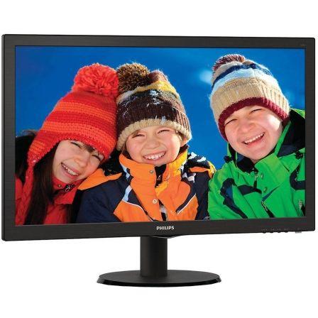 Monitor led philips v-line 223v5lhsb - 21.5'/ 54.6cm fullhd - 5ms - 10m:1 - 250cd/m2 - tamaño pixel 0.248 - vga - hdmi - vesa