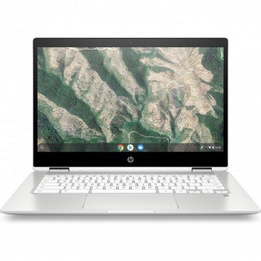 Portatil HP ChromeBook X360 14B-CA0001NS Celeron N4020 4GB 64GB eMMC 14' Táctil Chrome OS Blanco cerámico