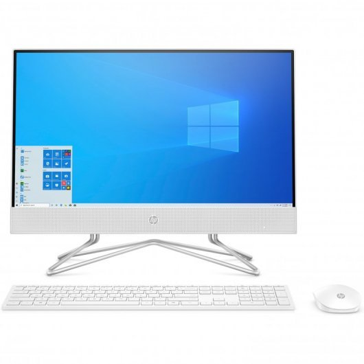 HP All-in-One 22-DF0047NS Celeron J4025 8GB 512GB SSD 21.5' Táctil w10 Blanco