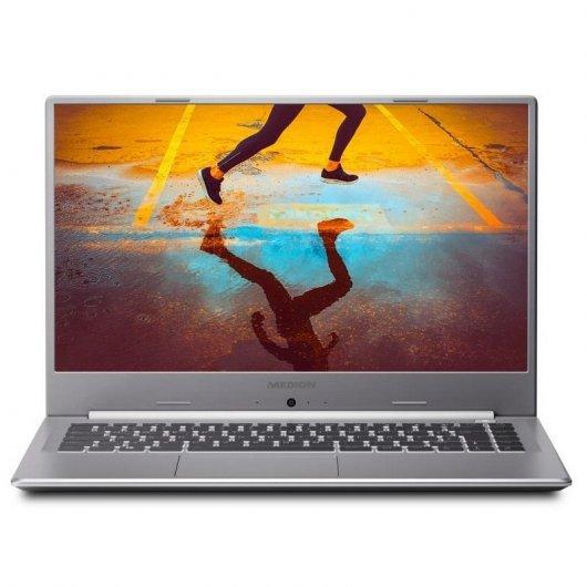 Portatil Medion Akoya S15449 i5-1135G7 8GB 512GB SSD 15.6' sin S.O. Gris
