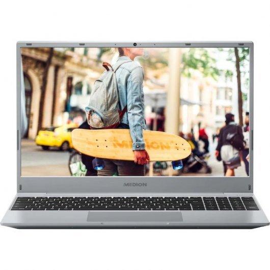 Portatil Medion Akoya E15301 AMD Ryzen 5-3500U 8GB 256GB SSD 15.6' w10 Plata