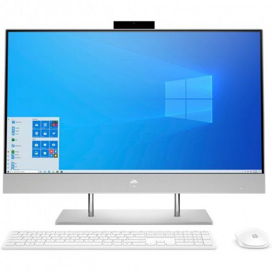 All in One HP 27-DP0078NS Pentium G6400T 8GB 512GB SSD 27' w10 Plata natural