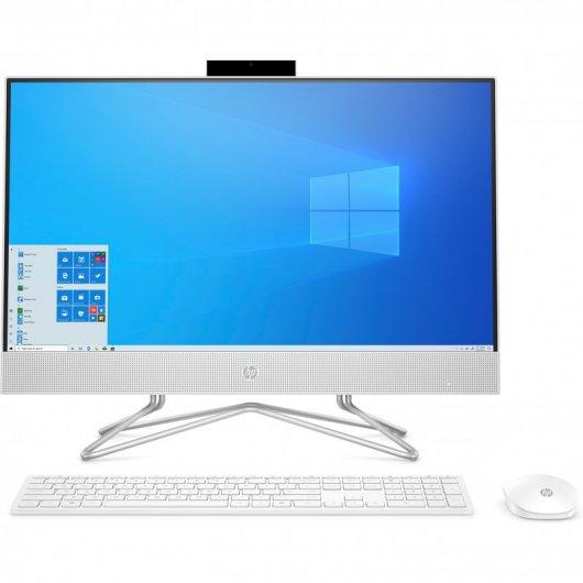 HP All-in-One 24-DF0102NS Intel Pentium G6400T 8GB 512GB SSD 23.8' w10 Blanco Nieve