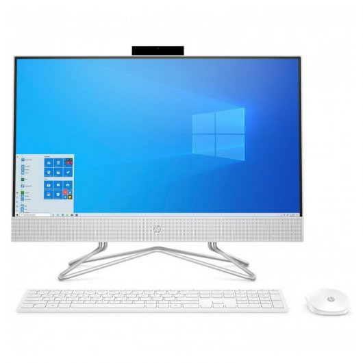 HP All-in-One 24-DF0104NS i5-10400T 8GB 512GB SSD 23.8' Tactil w10 Blanco Nieve