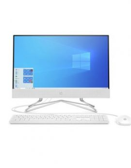 All in one HP 22-DF0025NS Celeron J4025 4GB 256GB SSD 21.5'' tec+raton w10 Blanco nieve