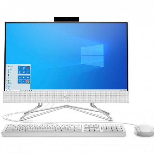 HP All-in-One 22-df0026ns Celeron J4025 8GB 256GB SSD 21.5' w10 Blanco Nieve