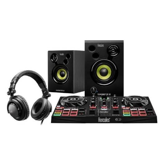 Consola Dj Hercules DJLearning Kit - DJControl Inpulse 200 + Auriculares HDP DJ45 + Altavoces DJMonitor 32