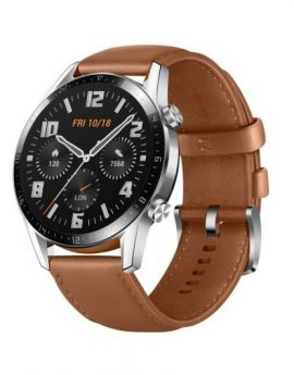 Reloj inteligente Huawei GT2 46mm Classic pebble brown - pantalla 3.53cm amoled - gps - 5 atm - notificaciones - bt5.1