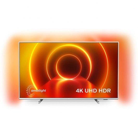Philips 55PUS7555 55' LED UltraHD 4K HDR10+ Smart TV Plata