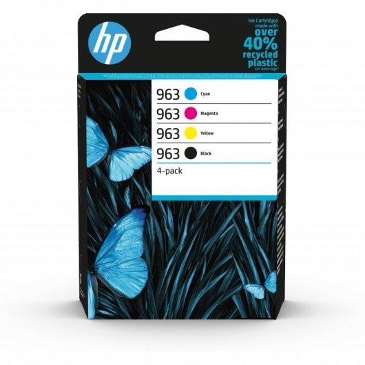 HP 963 Pack 4 Cartuchos Tinta Original Negro/Cian/Magenta/Amarillo