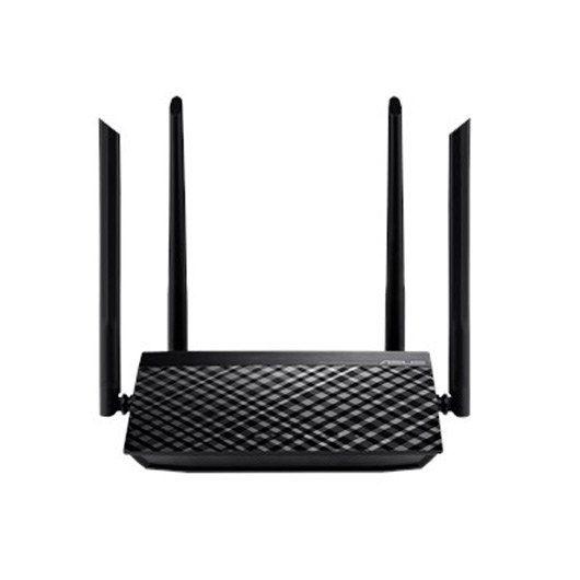 Asus RT-AC750L Router inalámbrico Ethernet rápido Doble banda (2,4 GHz / 5 GHz) Negro