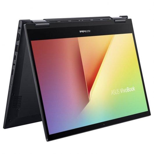 Portatil convertible Asus VivoBook Flip 14 TM420IA-EC198T Ryzen 5-4500U 8GB 512GB SSD 14' Táctil w10 Negro