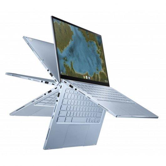 Portatil Asus Chromebook Flip C433TA-AJ0222 m3-8100Y 8GB 128GB eMMC 14' Táctil Chrome OS Plata