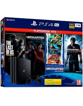 Sony PlayStation 4 Pro 1TB + The Last of Us + Uncharted Collection + Uncharted 4 + El Legado Perdido