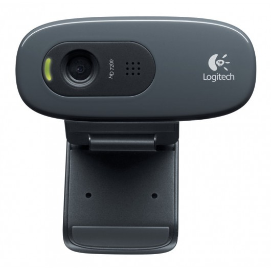 Webcam Logitech C270 HD 3MP Negro - USB 2.0 - Pantalla Panorámica - Micrófono - Portátil, Monitor
