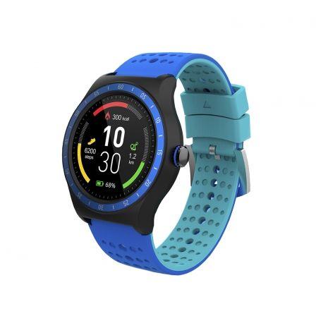 Reloj inteligente smartee pop spc 9625a azul - pantalla 1.3'/3.3cm ips - bt - multideporte - podómetro - monitor de sueño -