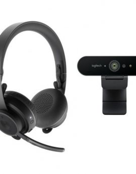 Logitech Pro Personal Video Collaboration Kit de Videoconferencia - webcam Brio 4k + auriculares zone wireless