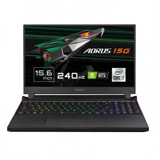 Portatil Gigabyte Aorus 15G XC-8ES2430SH i7-10870H 32GB 512GB SSD RTX3070 8gb 15.6' w10 Negro