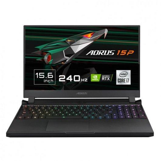 Portatil Gigabyte Aorus 15P XC-8ES2430SH i7-10870H 32GB 512GB SSD RTX3070 8gb 15.6' w10 Negro
