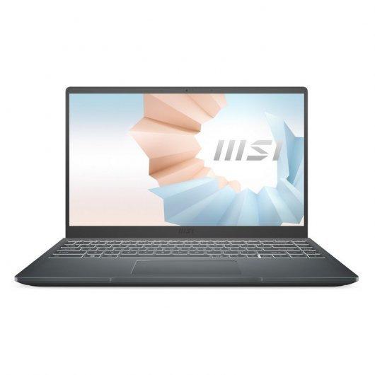 Portatil MSI Modern 14 B10RBSW-420XES i7-10510U 16GB 512GB SSD MX350 2gb 14' sin S.O. Gris