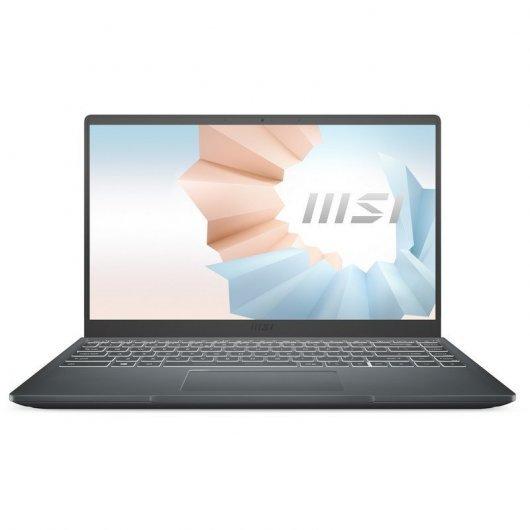 Portatil MSI Modern 14 B11SB-009XES Intel Core i7-1165G7 16GB 512GB SSD MX450 2gb 14' sin S.O. Gris
