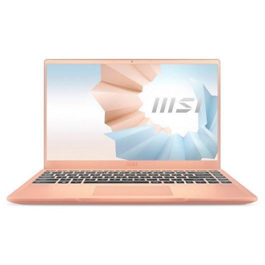 Portatil MSI Modern 14 B11M-090XES i7-1165G7 16GB 512GB SSD 14' sin S.O. Beige