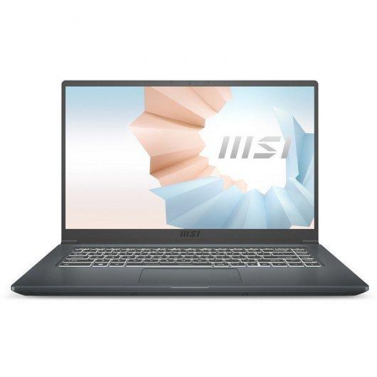 Portatil MSI Modern 15 A11SB-066XES i7-1165G7 16GB 1TB SSD MX450 2gb 15.6' sin S.O. Gris carbon