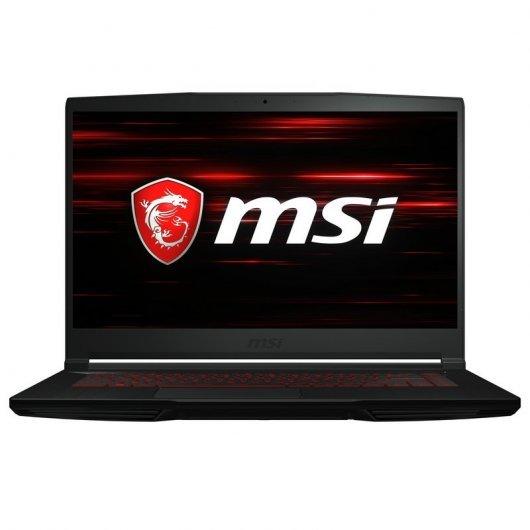 Portatil MSI GF63 Thin 10SCSR-835ES i7-10750H 16GB 1TB SSD GTX1650Ti 4gb 15.6' w10 Negro