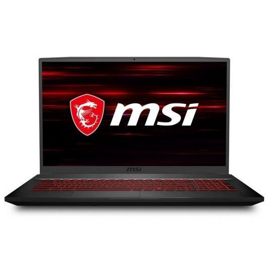 Portatil MSI GF75 Thin 10SER-427XES i7-10750H 16GB 512GB SSD RTX2060 6gb 17.3' sin S.O. Negro
