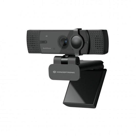 Conceptronic AMDIS07B Webcam 4K con Doble Micrófono