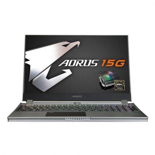 Portatil Gigabyte AORUS 15G WB-8ES2130MH i7-10875H 16GB 512GB SSD RTX2070 8gb 15.6' w10 Gris
