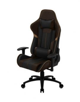 Silla gamer ThunderX3 BC3 Boss Coffee Black Brown - marco acero resposabrazos ajustables mecanismo mariposa piston clase 3