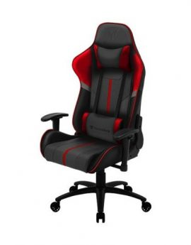 Silla gamer ThunderX3 BC3 Boss Fire Grey Red - marco acero resposabrazos ajustables mecanismo mariposa piston clase 3