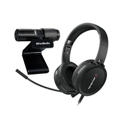 Avermedia BO317 Kit Conference Webcam PW313 FullHD + Auriculares AH313 con micrófono
