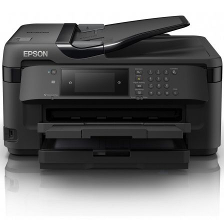 Multifunción epson wifi con fax workforce wf-7710dwf - a3+ - 32/20 ppm - duplex - escáner 1200x2400ppp - adf - pantalla táctil