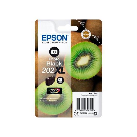 Cartucho tinta Epson Kiwi Singlepack Photo Black 202XL Claria Premium Ink