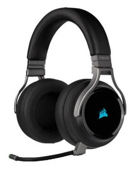 Corsair Virtuoso RGB Wireless auriculares gaming 7.1 inalámbricos negro carbón