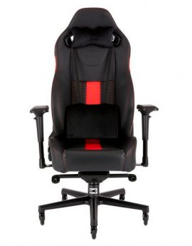 Silla Corsair Gaming T2 Road Warrior Negra/roja