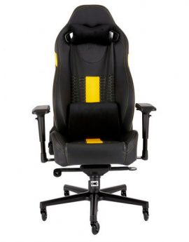Silla Corsair Gaming T2 Road Warrior Negra/amarilla
