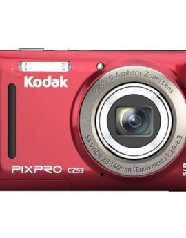 Cámara digital kodak pixpro cz53 roja - 16mpx - lcd 2.7'/6.82cm - zoom 5x opt - angular 28mm - vídeo hd 720p - usb 2.0 -